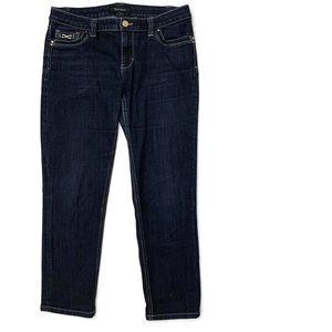 WHBM Cropped Jeans Pocket Embellishments Size 4